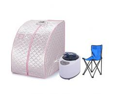 Sauna de vapór portable Portable desintoxicar Perder Peso Spa Personal cuerpo 98 x 70 x 80 cm 1.8L Plata Flyelf