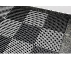Profesional suelo de rejilla para ducha Piscina Sauna antideslizante estera 30 x 30 cm sistema aneinandersteckbar, gris, 30 x 30 cm