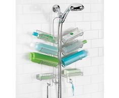 InterDesign - Verona - Organizador para colocar sobre manguera de ducha - Plateado