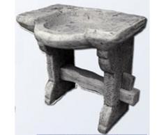 Lavabo de hormigón para exteriores estilo piedra antiguo