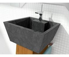 Bathco - Lavabo Bathco Sobre Encimera Piedra Rodas Negro 450X450X200