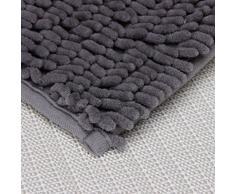 Alfombra de bano - TOOGOO(R)Soft Shaggy antideslizante absorbente Alfombra de bano Bano Ducha estera 40*60cm (gris)