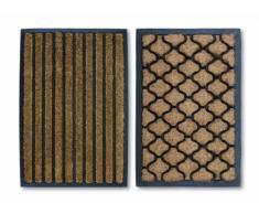 William Armes Sherpa - Felpudo antideslizante de fibra de coco (60 x 40 cm), diseño de rayas