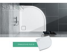 Plato de ducha (Taza Walk en cuarto circular (acrílico bañera plano Estable 80 x 80 x 5.5 R55 placa de ducha Ducha tarjeta Sistema Estable Sound®
