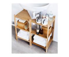 IKEA RAGRUND - Lavabo/estante de esquina, bambú - 34 x 60 cm