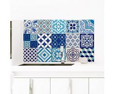 Ambiance-Live - Lote de 15 Azulejos autoadhesivos de imitación para Pared - con diseño de Mosaico - de 15 x 15 cm.