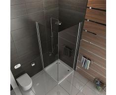 Cabina de ducha esquina. Real ducha de cristal Kage 80 x 80 x195 cm, incluye mecanismo de elevación pulidoras Cristal de Seguridad Mampara plegable drehtür Mampara ducha pared