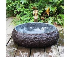 Lavabo de piedra Century Lavabo de plataforma de adoquines retro Lavabo de piedra natural Lavabo de arte50 * 40 * 15