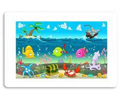 """""""pescado - diseño"""" alfombra de baño alfombra de baño alfombrilla antideslizante alfombrilla de bañera ducha de ducha con texto y gráficos"""