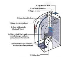 nfrarrojo Sauna Plegable Cabina de calor Infrarrojo lejano 1000 W