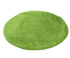 Kleine Wolke 5405615521 Relax - Alfombrilla de baño (redonda, 100 cm), color verde