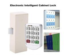 Bloqueo de código digital electrónico Panel de plástico ABS Contraseña inteligente Teclado numérico Bloqueo de gabinete Adecuado para taquillas Cajón de oficina Sauna Gabinetes de almacenamiento móvil