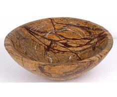 De la lluvia de diseño de bosque de colour marrón natural de la piedra de mármol de platillos para lavabo de cuarto de baño de las habitaciones 35 cm x 12 cm (DEB0048)