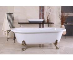 Independiente de baño de lujo Nouveau Milano Negro / Plata - Independiente barroco bañera baño