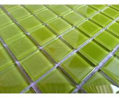 Transparente cristal mosaico azulejos Matte en ultramoderno verdes. Revestimiento para paredes (MT0023 GTDE) Matte es 30 cm x 30 cm