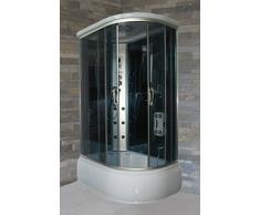 Baúl de hidromasaje 120 x 80 cm cabina con bañera con radio teléfono baño turco aromaterapia versión izquierda I