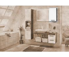 Fackelmann armario de pared Hype 2 - Derecho, pino, gris oscuro/blanco de alto brillo