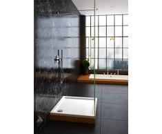 Galdem ducha bañera 90 x 90 x 5,5 cm cuadrado plano bañera ducha Taza de acrílico de alta calidad para mampara de ducha cabina