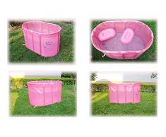 Bañera Bañera Plegable Bañera Práctica para niños Baño Inflable Plegable para Adultos Baño para Sauna portátil Soporte de Acero Inoxidable Incremento Inflable Baño de inmersión