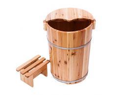 NUBAOgy Cubo De Fumigación, Barril De Baño De Pie De Abeto, 40 Cm De Alto Engrosado con Bañera De Pie, Masaje, Sauna, Aguas Termales, Hogar