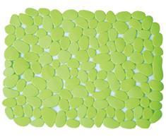 MSV Alfombra DE PVC para Fregadero-Verde, 40x31x0.5 cm