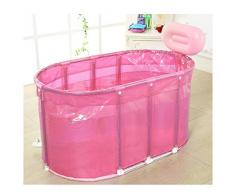 King size sauna plegable Sauna Baño de doble uso baño de burbujas tubo para adultos bañera de acero inoxidable marco de apoyo barril , pink
