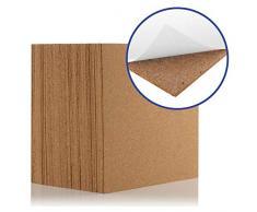 Azulejos de corcho natural de 300 x 300 mm (4 mm de grosor) (autoadhesivo) para suelo/pared/bricolaje (paquete de 25)