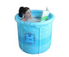 WSS Bañera tina de baño inflable tamaño adulto de plegamiento la tina doble espesado barril sauna casa