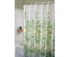 InterDesign Anzu Cortina de ducha | Cortina de baño lavable a máquina de 183 x 183 cm | Cortinas modernas con estampado floral para bañera o plato de ducha | Poliéster verde