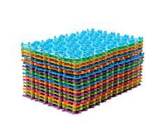 Gosear-Deslizar-resistente Alfombra de PVC Mosaico / Mat antideslizante para Baño Hogar(En forma de corazón,Color al azar)