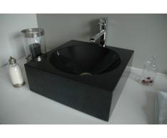 Lavabo de granito gris acabado