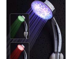 Trébol de la arena de baño 7 colores cambiantes LED Colorful Circular cabezal de ducha grifo de la ducha, luz Cuarto de baño, Gradiente Color