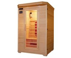 Cabina de infrarrojos/calor cabina/sauna – Esquina. Para 2 Personas especial Acción