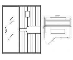 Cabina de infrarrojos/calor cabina/sauna – Esquina. Para 3 persona especial Acción
