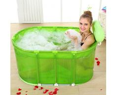 wysm Bañera Sauna Cinturón de baño Plegable Adulto Soporte de acero inoxidable Bañera ( Color : Verde )