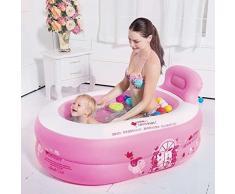 YG Bañera inflable de la sauna de la bañera que dobla la bañera de plástico del baño (ninguÌ n baño rosado de la cubierta) los 120CM * los 80CM * los 40CM