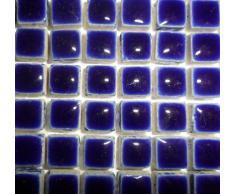 Azulejos de mosaico de cerámica esmaltado Mini 10 mm Azul