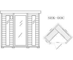 Cabina de infrarrojos/calor cabina/sauna – Esquina. Para 4 Personas especial Acción