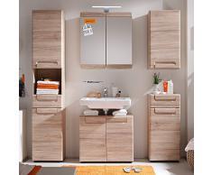 trendteam 132441090 Malea - Armario con espejo para baño (65 x 70 x 15 cm)