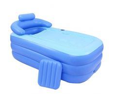 Sauna Plegable BañEra Inflable Hogar Cubo De BañO De Cubo Multiuso Fondo Acolchado Acolchado Respaldo TamañO 160 * 84 * 64Cm (Azul Cielo)