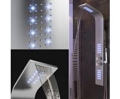 Panel de Ducha,Temperatura Constante,Luces LED púrpuras, Ducha de Mano, Modos múltiples, Experiencia