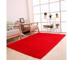 Estera de yoga Sannysis Alfombra antideslizante Estera 80 x 120cm (Rojo)