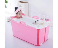 GLY Bañera Inflable portátil de plástico PVC tinas Bañera de hidromasaje Bañera de Jacuzzis portátiles Tina de baño bañeras de hidromasaje for los niños (Color : Pink)