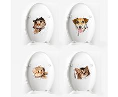 iTemer 1 Creativo 3D de Dibujos Animados Etiqueta engomada del Animal doméstico Aseo Cubierta portátil Pegatinas Decorativas Style B