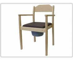 Silla con Inodoro Noche silla de madera, claro