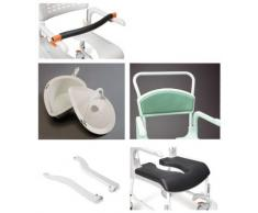 Patterson Medical Chair Clean - Asiento blando caliente para silla de ducha con agujero para inodoro, color verde