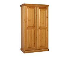 Armario 2 puertas de madera pino macizo - color nogal