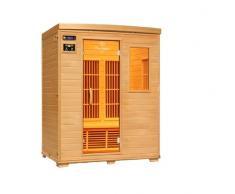 Ivar de 3 Topline 3 personas sauna infrarrojos y cabina de infrarrojos/1900 W/calor infrarrojo cabina y muchos extras.