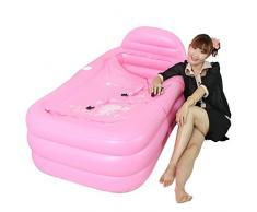 MEHE-bañera de hidromasaje bañera inflable Spa bañera plegable adulto grande engrosada 160 * 90 * 50cm