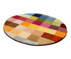 Kleine Wolke 8821148528 CUBETTO - Alfombrilla de baño (poliacrílico, multicolor, 90 x 90 x 3 cm